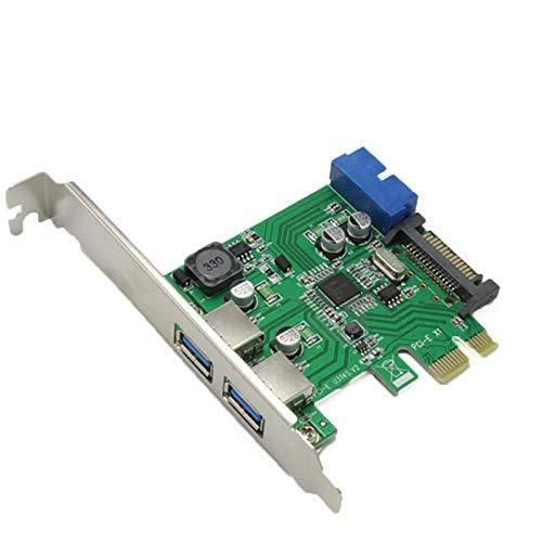 Tarjeta de expansión PCI-E a USB 3.0 con Interfaz Delantera 19/20 Pin para computadora de Escritorio