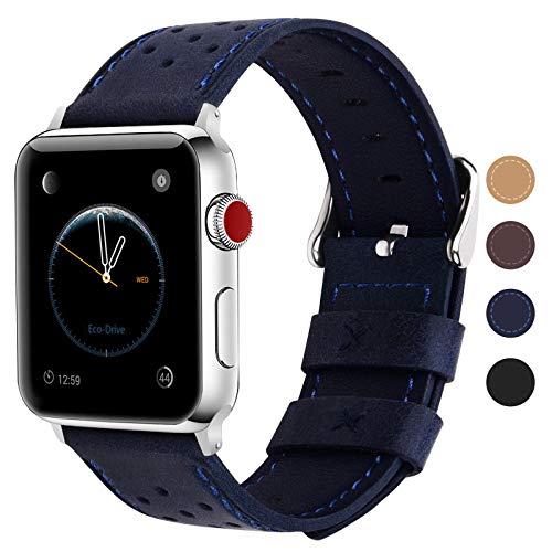 Fullmosa Compatibile Cinturino Apple Watch,Cinturino Apple Watch 42 mm e 38 mm,Breeze Cinturino per Iwatch Serie 5 4 3 2 1 Hermers e Nike+Edizione,42mm Blu Scuro