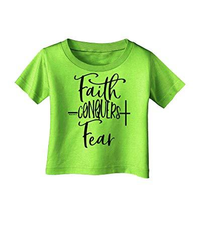 TOOLOUD Faith Conquers Fear Coronavirus Covid 19 Infant T-Shirt Lime Green 18Months