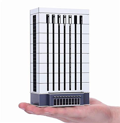 EatingBiting N Scale 1/150 1/160 Modern Enterprise Government Skyscraper Buildings Models Realism Scene for DIY Sand Table Garden Micro Landscape Ornaments Decor Supply DIY Player Spray Painting