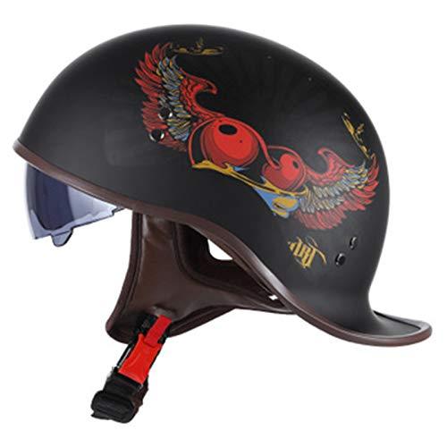 ABDOMINAL WHEEL Medio Casco de Moto Jet Casco 3/4 Adulto,Cascos Half Helmet...