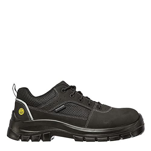Skechers TROPHUS, Zapato Industrial Hombre, Black, 43 EU