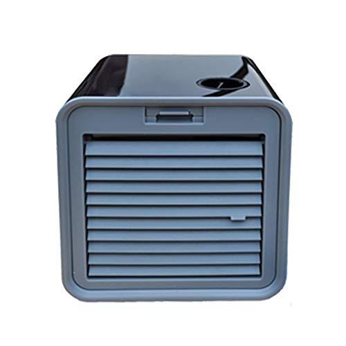 Mobile Ventilator Klimaanlage Persönlicher Mini Klimageräte USB Tragbar Luftkühler Ventilator Luftbefeuchter und Luftreiniger LED Beleuchtung Luftkühler (Grau)
