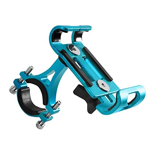 1pc Montaje De Bicicletas Soporte para Teléfono Soporte De La Horquilla De Aleación De Aluminio Abrazadera Universal para Bicicletas (Azul, Rotación)