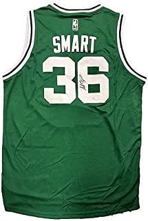 cc19da0dd35 Marcus Smart Boston Celtics Away Green Signed Jersey JSA Certified