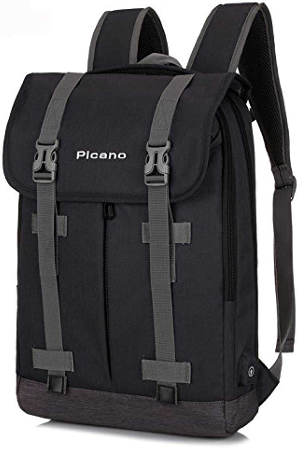 Vintage Hiking Camping Daypack Anti Theft USB Travel School Backpack