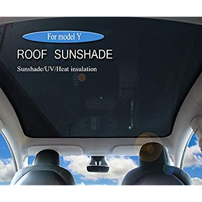 Topfit for model Y Sunshade Roof Window Insulation UV Rays Protection Sun Shade for Tesla Model Y (2020 2021) Heat Blocking Shades
