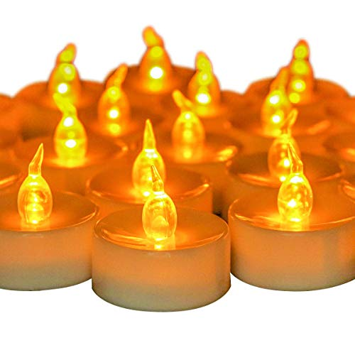 Yangerbaby 48pcs Flickering Led Tea Light Candles,Only 24pcs with Timming, for Wedding, Outdoor, Home Decorations