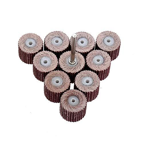 Schleifpolierkopf Drehwerkzeuges der 10Pc 15mm 240 Schleifpapier der Körnung zum Schleifen des Mundschutzes Schleifscheibe und Dorn des Miniatur-Drehbohrers