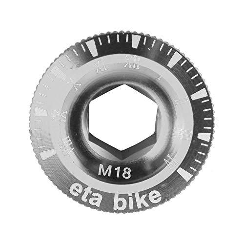 Domybest - Tapa de manivela para bielas de aluminio para bicicleta de montaña BMX (plata, M18)