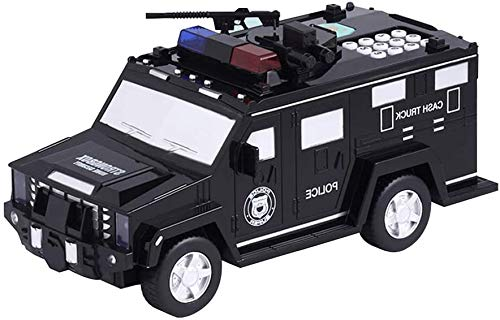 LLDKA Panzerwagen Piggy Bank-Geld-Box mit Musik Kühle Lichter für Kinder und Jugendliche