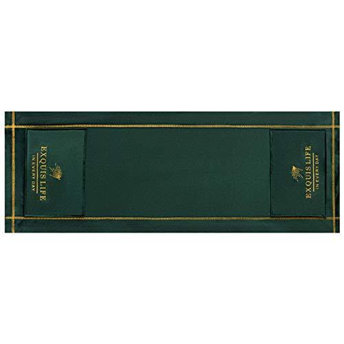 POHOVE Hotte de four à micro-ondes Broderie anti-poussière nordique universelle à l'huile avec poches de rangement pour la décoration de la maison, accessoires de bureau (vert)