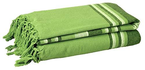 EHC 377 x 250 cm, Baumwolle, gestreift, sehr groß, 4 oder 5-Sitzer-Sofa/Super-King-Size-Bett/Überwurf Rose
