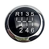 Nearandfar Pomos de Palanca de Cambios, 5/6 Speed Coche Gear Shift Knob Emblem Insignia Cap Top Cover for Vauxhall Opel Astra III H Corsa D 2004-2010 Accesorios de Estilo de automóvil