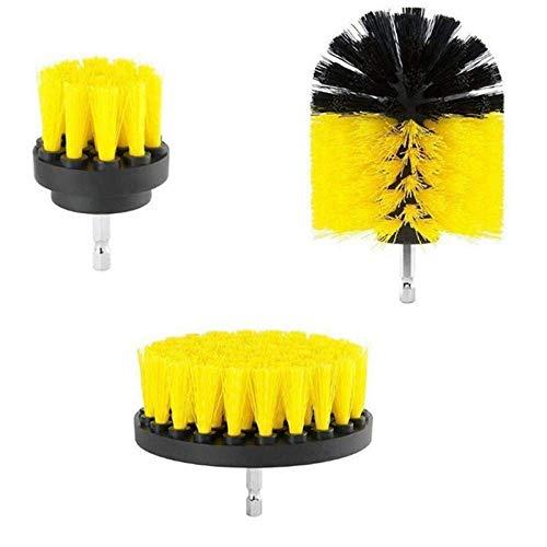 3 unids/set Electric Scrubber Drill Brish Kit de plástico herramientas de limpieza redondas para neumáticos de vidrio de alfombras Cepillos de nylon 2/3.5/4 ''