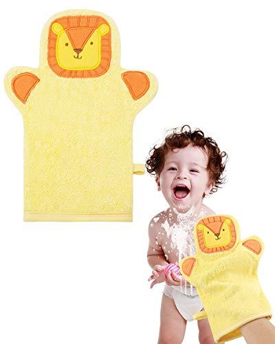 Manopla de baño para bebé, manopla de baño con motivos de animales, manopla de ducha para bebés y niños, marioneta de mano 08, suave, absorbente, duradera