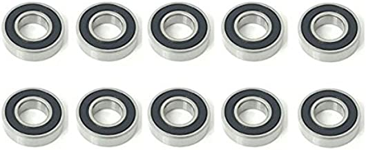 10x 6002 2RS Rubber Sealed Deep Groove Ball Bearings - 15x32x9 mm