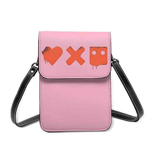 Dansony L_Ove D_Eath + Ro_Botssmartphone Wallet Bags,Cellphone Pouch Bag with Shoulder Strap and Magnetic Button