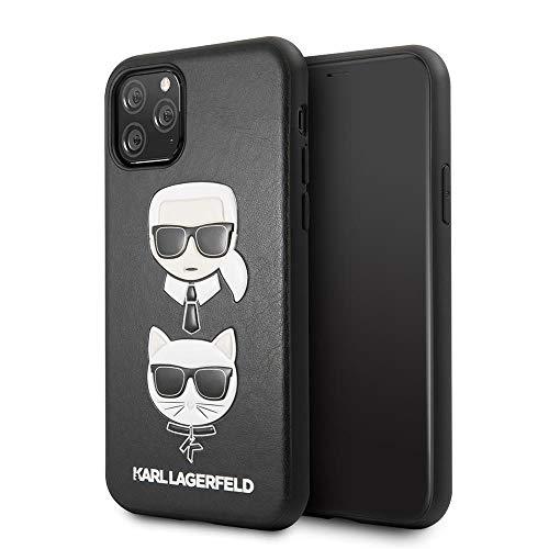 Karl Lagerfeld KLHCN58KICKC Karl & Choupette Cover for iPhone 11 Pro, Black