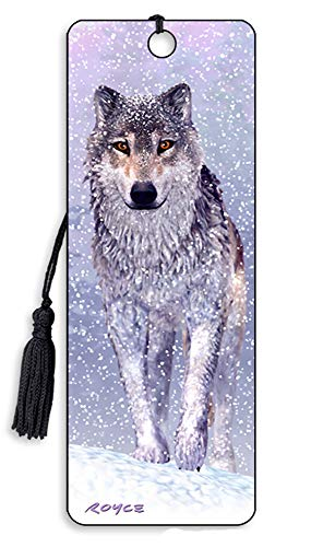 3D Bookmarks by Artgame - TOP Selling Designs (Snow Wolf)