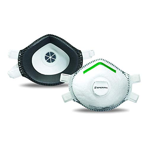 Honeywell SAF-T-Fit Plus Disposable Lead Paint Removal P100 Respirator Mask with Exhalation Valve, 1-Pack (RWS-54020)