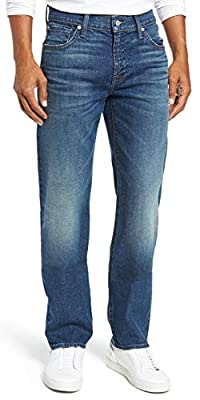 7 For All Mankind Men's Standard Classic Straight Leg Jeans Faded Denim Thurston 31 from
