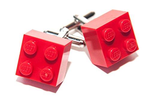 Lustige Lego Manschettenknöpfe Cool Retro Ziegelrot