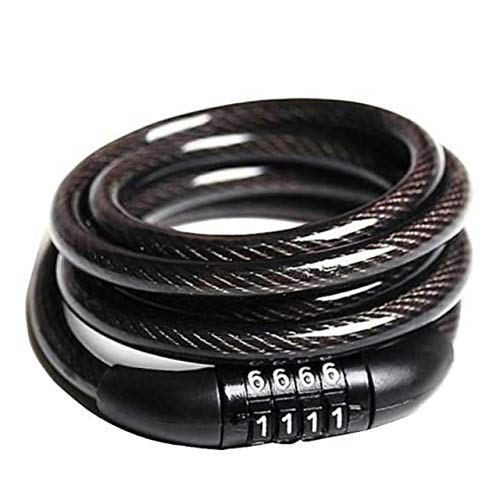 Souxe 4 Letters Number Lock Combination Coiled Bike Steel Cable/Lock Accessories Helmet...