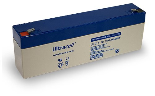 Wentronic Batteria al piombo (Ultracell) 12 V, 2,4 Ah (Faston 187-4,8 mm)
