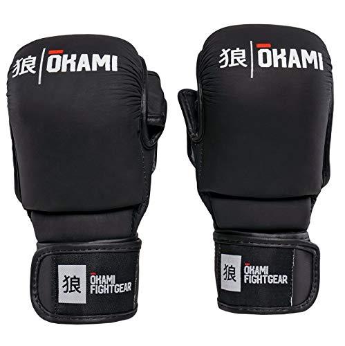 Okami Hi-Pro Sparring MMA Handschuhe Noir- Grappling Freefight BJJ Handschuhe (L)