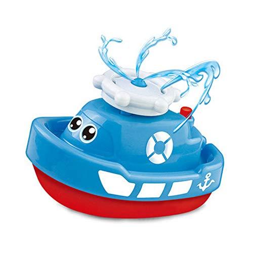 DOMIRE Baño de Juguete, Juguetes de baño del Aerosol de Agua del Barco del Flotador Girar Fuente Bañera para bebés Barco Infante Partido pulverizador Juguetes electrónicos