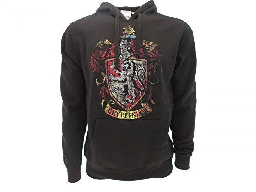 Harry Potter Sudadera con Capucha Hoodie Simbolo de Gryffindor Casa - 100% Oficial Warner Bros (M Medium)