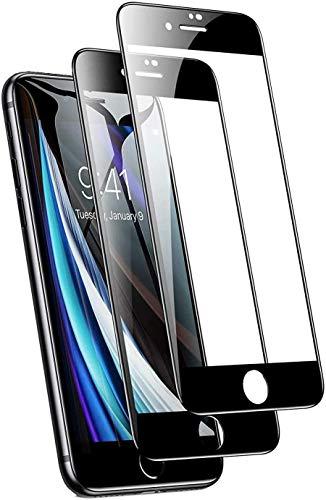 Pellicola protettiva per iPhone 8 Plus in vetro temperato a copertura completa, durezza 9H, facile da installare, antigraffio, per iPhone 8 Plus, confezione da 2