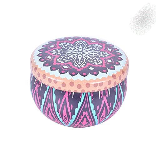 52 Estilos Caja de galletas de caramelo en forma de tambor Fiesta festiva s Rose Tea Pot Caja de lata Pequeña y fresca Caja de dulces de la personalidad del jardín casero-Nueva llegada