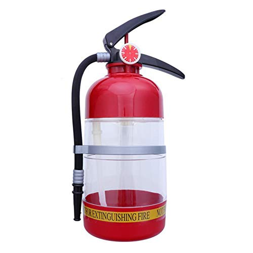 Huachaoxiang 2l Extintor de Incendios Sput Bebida Vino Donante Partido Cerveza Suministro de Agua Barriles de Cerveza Barra Beber Bebidas alcohólicas Dispensador de Bebidas para Bar Party,Rojo
