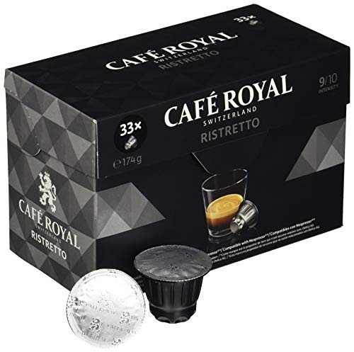Café Royal Ristretto 33 Nespresso kompatible Kapseln, 1er Pack (1 x 33 Kaffeekapseln)
