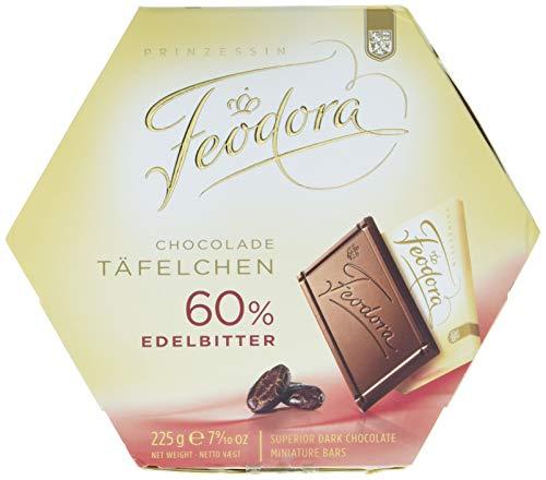 Feodora Schokolade Täfelchen 60 Prozent Edelbitter, 4er Pack (4 x 225 g)