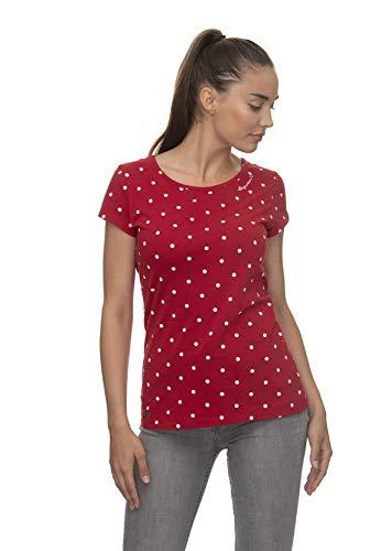 Ragwear T-Shirt Damen T-Shirt Mint DOTS 2011-10023 Rot Red 4000, Größe:S