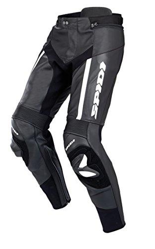 SPIDI Leder Motorradhosen RR Pro, Schwarz/Weiß, Größe 54