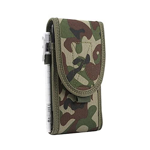 Funda de nailon para teléfono celular con tapa de clip para cinturón compatible con iPhone 12 Mini, 12, 12 Pro, para Samsung Galaxy Note10, S21, S20, S10, S10e para Moto/LG - Pequeño