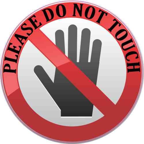 StickerTalk Please Do Not Touch Vinyl Sticker, 3 inches by 3 inches
