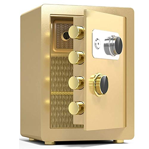 Cassaforte-SYY Grandi Casseforti Ignifughe, Armadio di Sicurezza Meccanico Domestico in Acciaio, Cassetta di Sicurezza for Hotel/Banca, 3 Colori, Altezza 40 Cm / 45 Cm (Color : Gold, Size : 45cm)