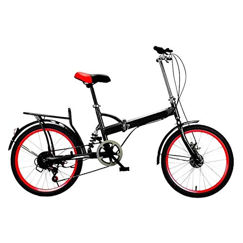 20 Pulgadas Bicicleta Bici Ciudad Plegables Adulto Hombre Mujer, Bicicleta de Montaña Btt MTB Ligero Folding Mountain City Bike Doble Suspension Bicicleta Urbana Portátil, H046ZJ