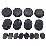 Oksano - Pietre larghe per massaggio Hot-Stone con pietre calde, in basalto, ideali per Spa, massaggioterapia, relax, 16 pezzi