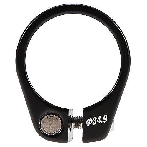 Schnellspanner Sattelklemme Fahrrad Sattelklemme Schnellverschluss Sattelstütze Klemme Aluminiumlegierung Passend für 30,4 / 30,8 / 31,6mm Sattelstange ( Farbe : Schwarz )