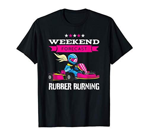 brûlure de pneu - Fille de sport motorisé T-Shirt