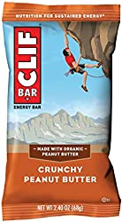 CLIF BAR - Energy Bar - Crunchy Peanut Butter, Protein Bar, 2.4 oz