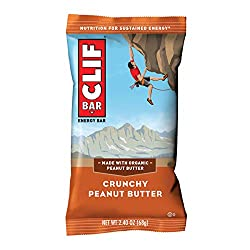 CLIF BAR - Energy Bar - Crunchy Peanut Butter, Protein Bar, 2.4 oz