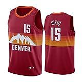 FGRGH Nuggets #15 Jokic Jersey, Nuggets Jersey, Herren Basketball Trikots, Whole Team 2021 New Season Player Atmungsaktives Sporttrikot L