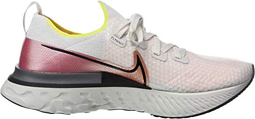 Nike Herren React Infinity Run Flyknit Laufschuhe, Grau (Platinum Tint/Black-Pink Blast 004), 44 EU